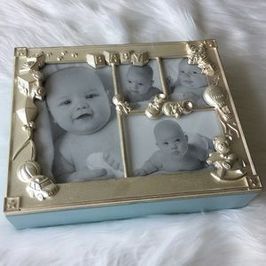Pewter Frame Keepsake Box for Baby 4 Pictures